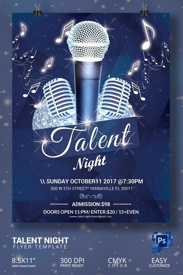 Talent Show Flyer Template Free Awesome 16 Amazing Talent Show Flyer Templates Psd