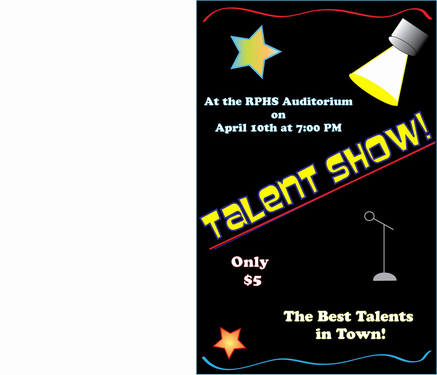 Talent Show Flyer Template Free Awesome 26 Of Talent Show Flyer Template Free Downloads