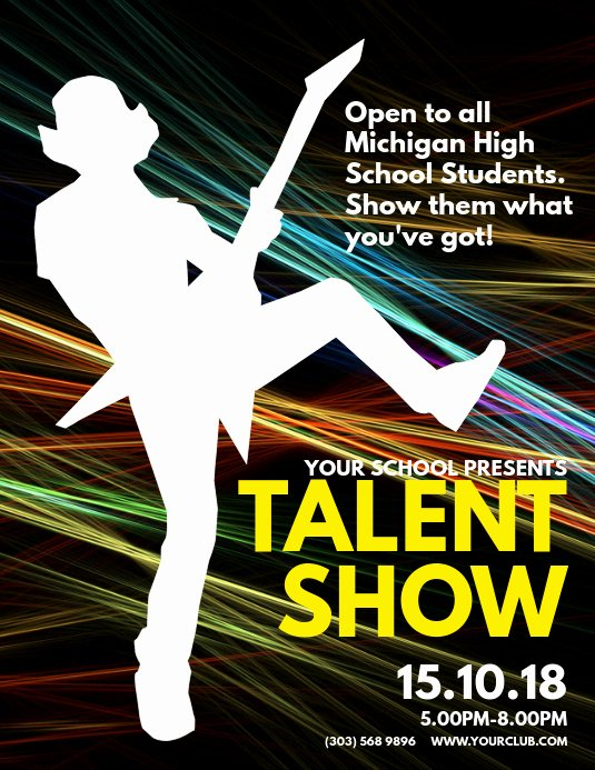 Talent Show Flyer Template Free Awesome Copy Of Talent Show Flyer Template
