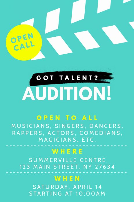 Talent Show Flyer Template Free Awesome Talent Show Poster Template