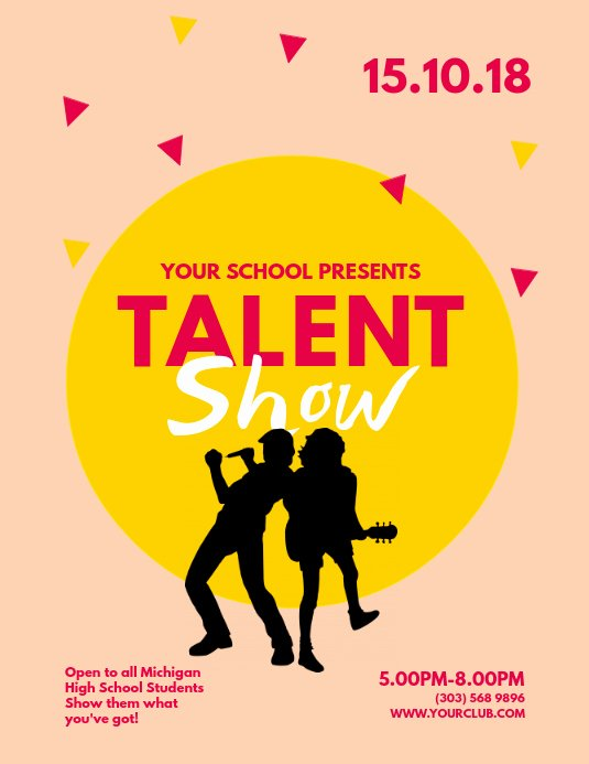 Talent Show Flyer Template Free Beautiful Copy Of Talent Show Flyer Template