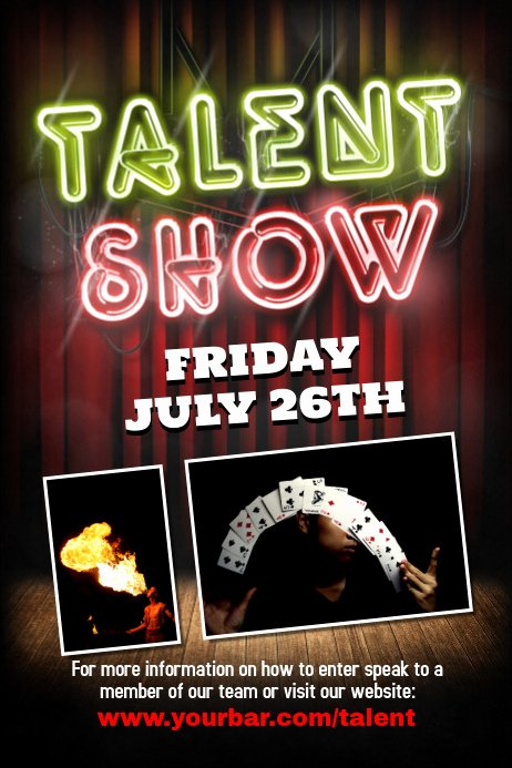 Talent Show Flyer Template Free Beautiful Talent Show Flyer Template