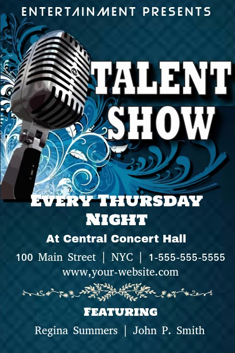 Talent Show Flyer Template Free Beautiful Talent Show Template