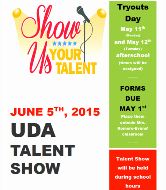 Talent Show Flyer Template Free Best Of Amazing Talent Show Flyer Templates Word Excel Samples