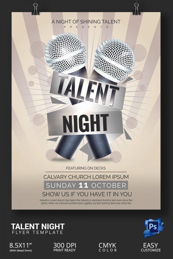 Talent Show Flyer Template Free Best Of Talent Show Flyer – Emmamcintyrephotography