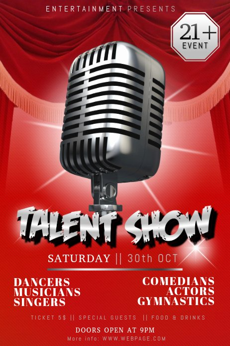 Talent Show Flyer Template Free Best Of Talent Show Flyer Template