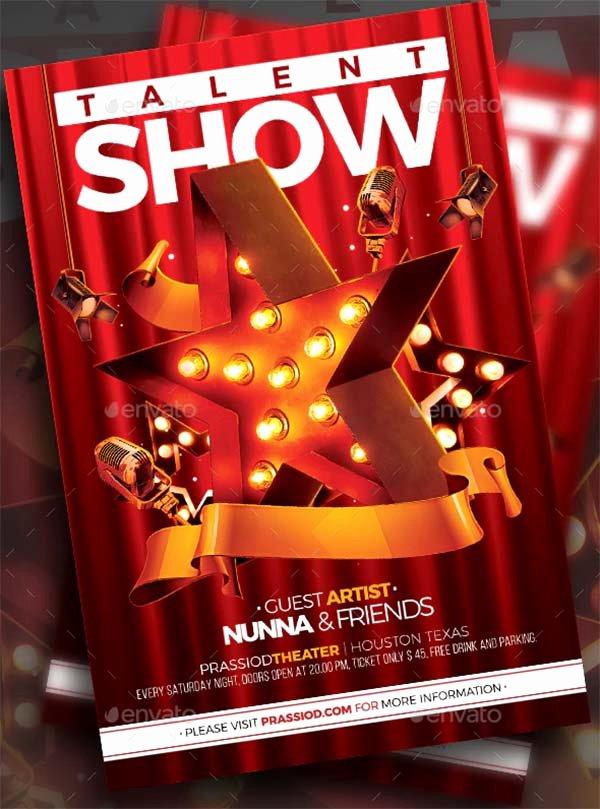 Talent Show Flyer Template Free Elegant 14 Talent Show Flyer Templates Free & Premium Psd