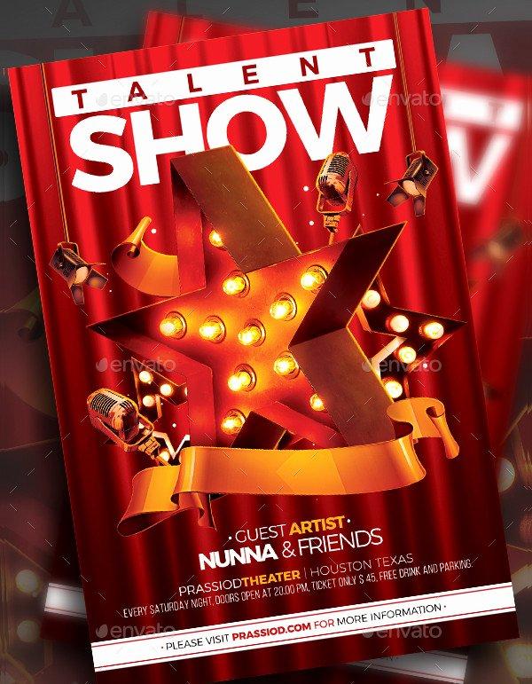 Talent Show Flyer Template Free Elegant Talent Show Flyer Templates 19 Free & Premium Download