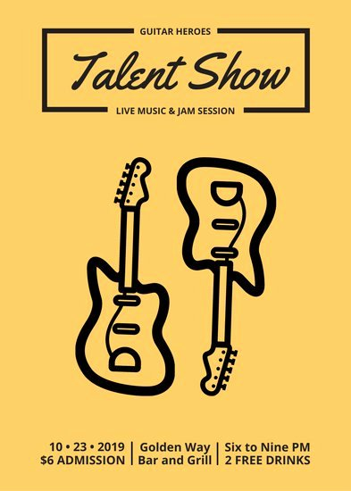 Talent Show Flyer Template Free Inspirational Customize 69 Talent Show Flyer Templates Online Canva