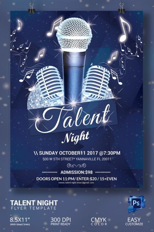 Talent Show Flyer Template Free Inspirational Talent Show Flyer
