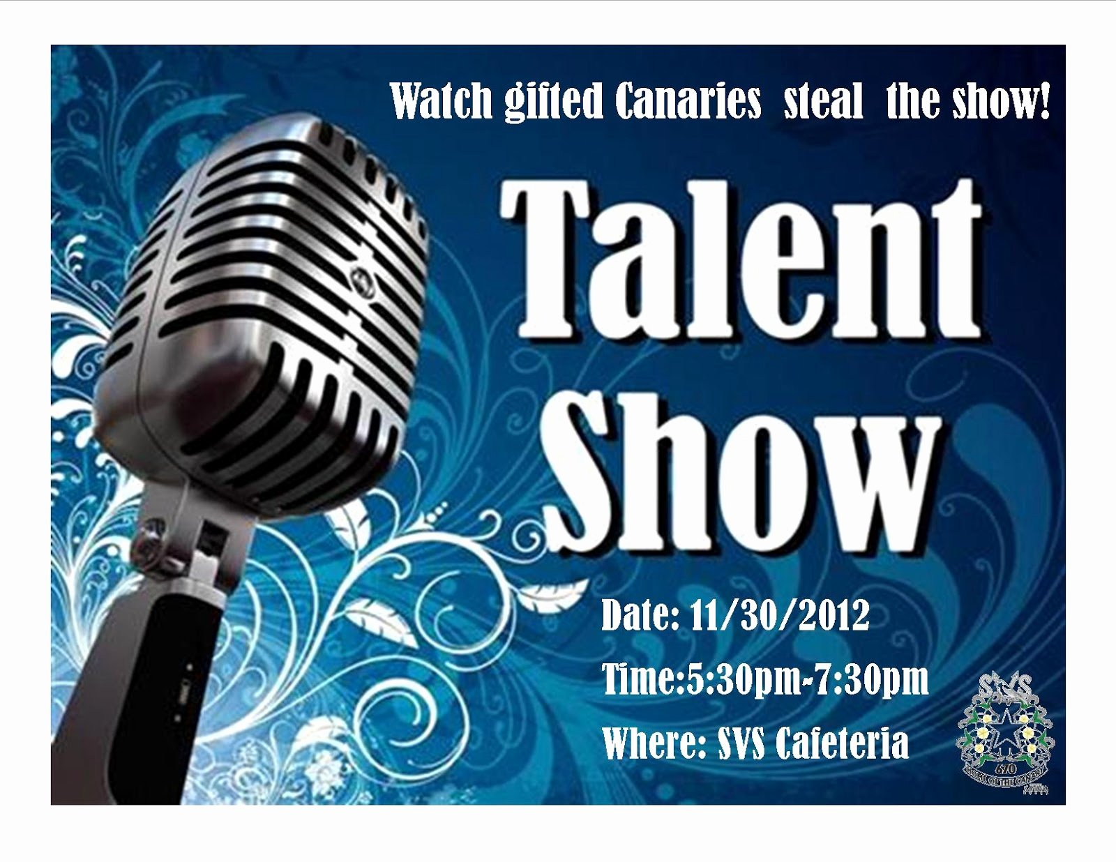 Talent Show Flyer Template Free Luxury Aiming High News From the Canary S Nest
