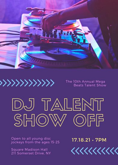 Talent Show Flyer Template Free Luxury Customize 73 Talent Show Flyer Templates Online Canva