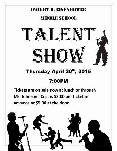 Talent Show Flyer Template Free Luxury Talent Show the Kit to Run Your event by Jonmayhew1234