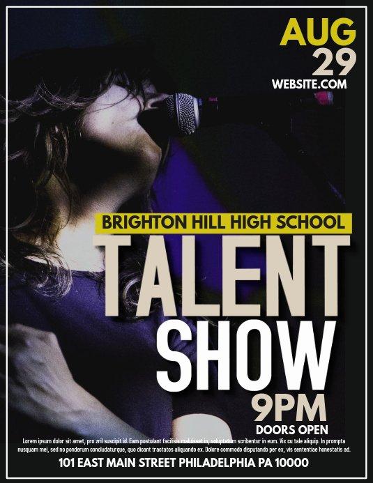 Talent Show Flyer Template Free Unique Talent Template