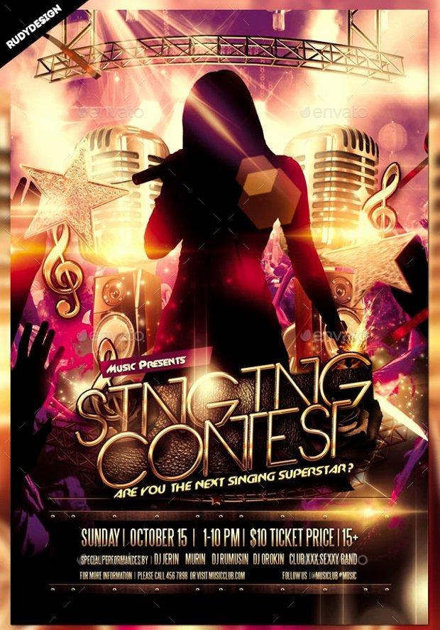 Talent Show Flyer Template Fresh 25 Talent Show Flyer Templates Word Psd Ai Eps