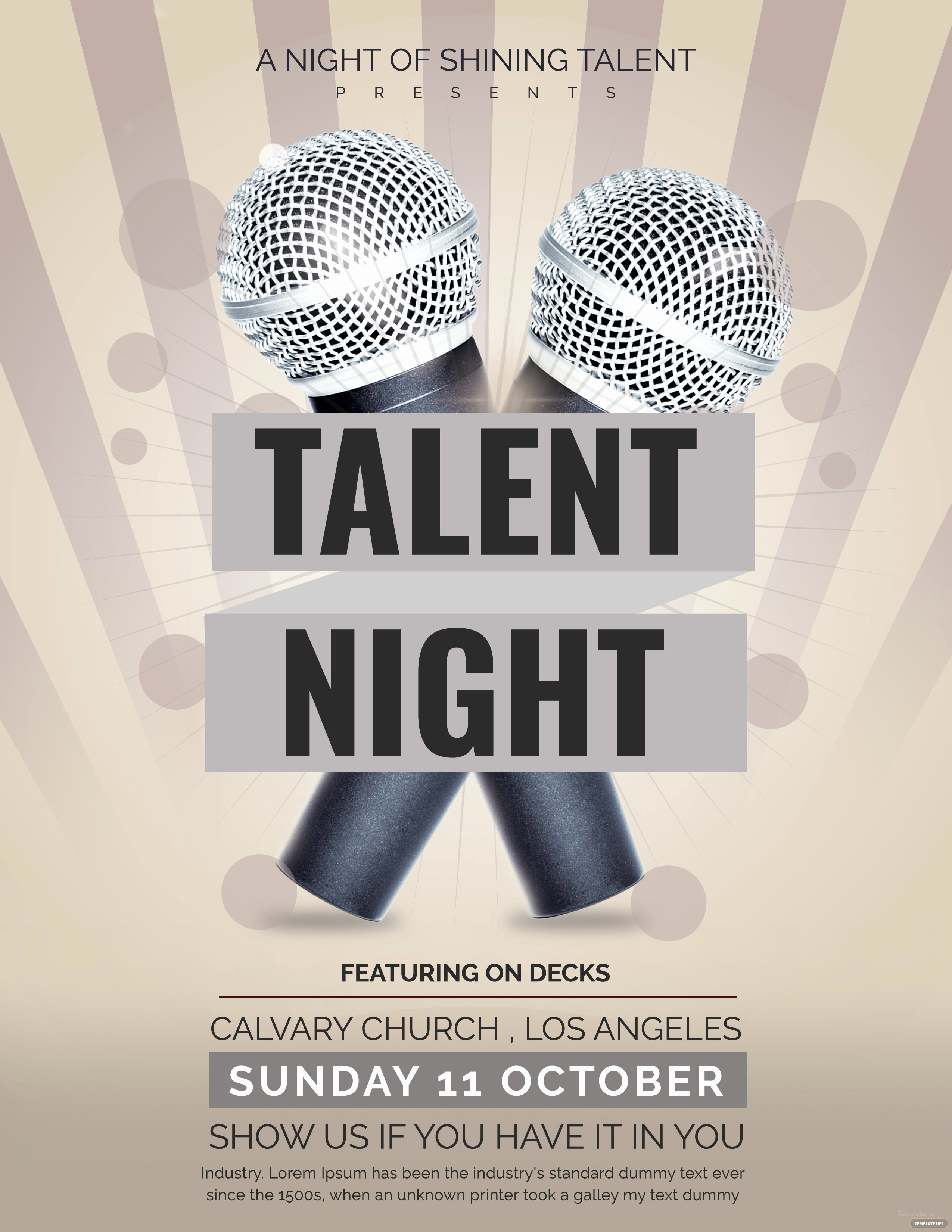 Talent Show Flyer Template Inspirational Free Talent Show Flyer Template In Adobe Shop