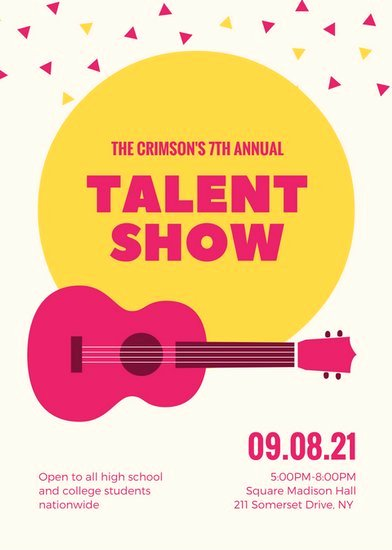 Talent Show Flyer Template Luxury Yellow Stars Illustration Talent Show Auditions Flyer