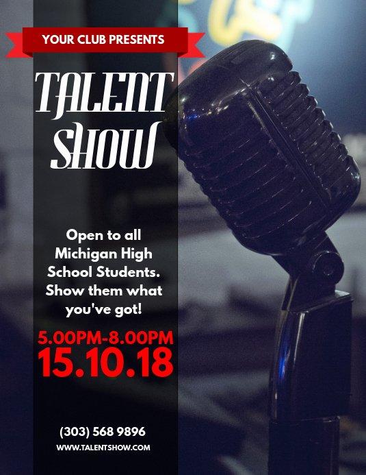 Talent Show Flyer Template Unique Talent Show Flyer Template