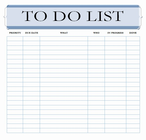 Task List Template Word Awesome the Best to Do List Template Unleash Your Productivity