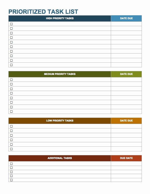 Task List Template Word Best Of Weekly to Do List Template Word