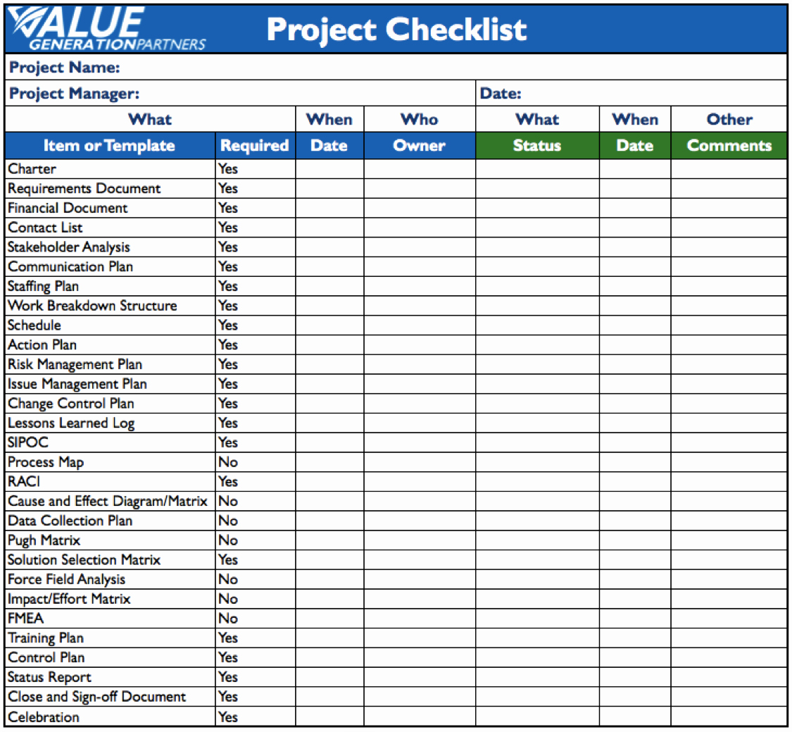 Task List Template Word Unique Generating Value by Using A Project Checklist – Value