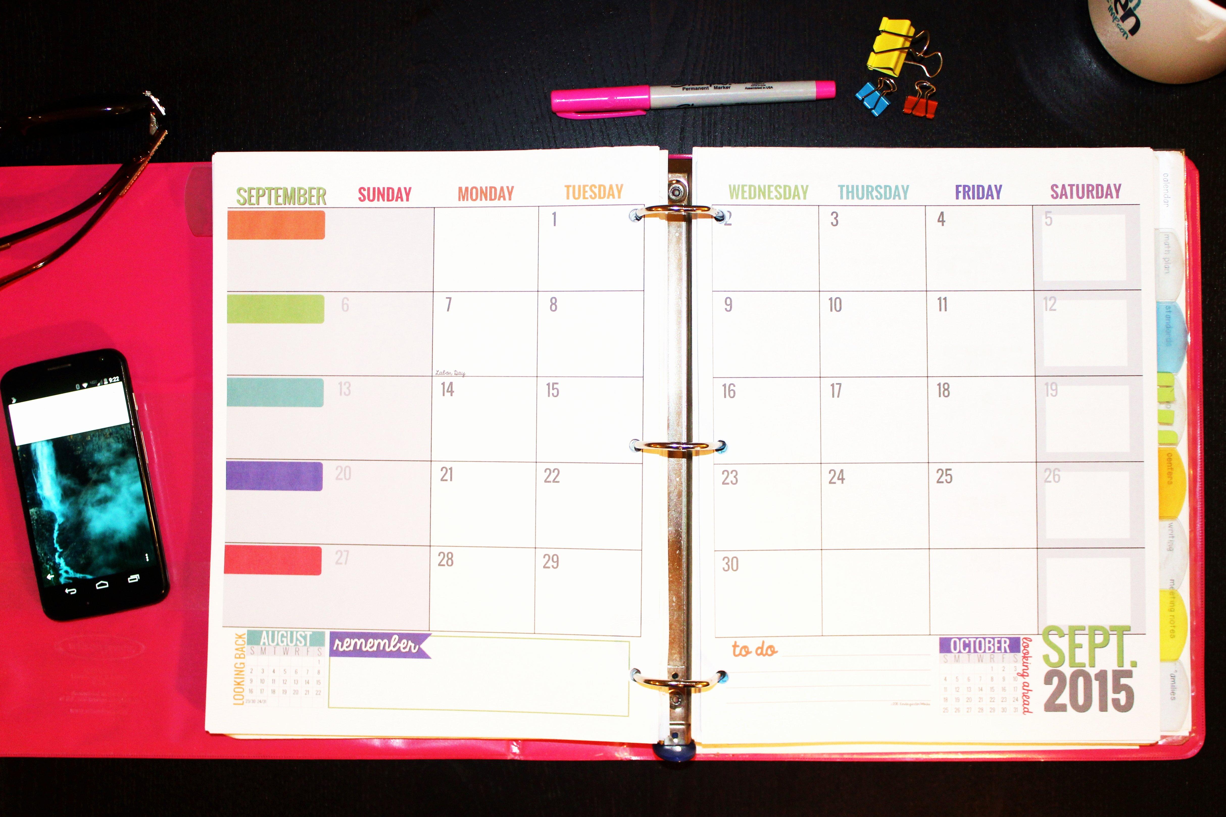 Teacher Daily Schedule Template Elegant Free Printable Calendar Templates for Teachers