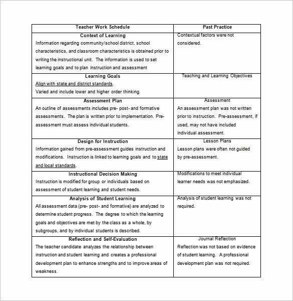 Teacher Daily Schedule Template Inspirational 11 Teacher Schedule Templates Docs Excel Pdf