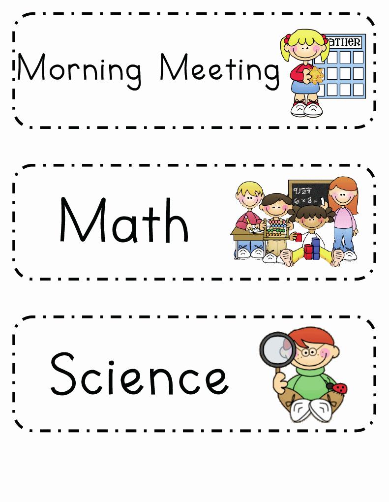 Teacher Daily Schedule Template Lovely Mrs Ricca S Kindergarten Daily Schedule Freebie
