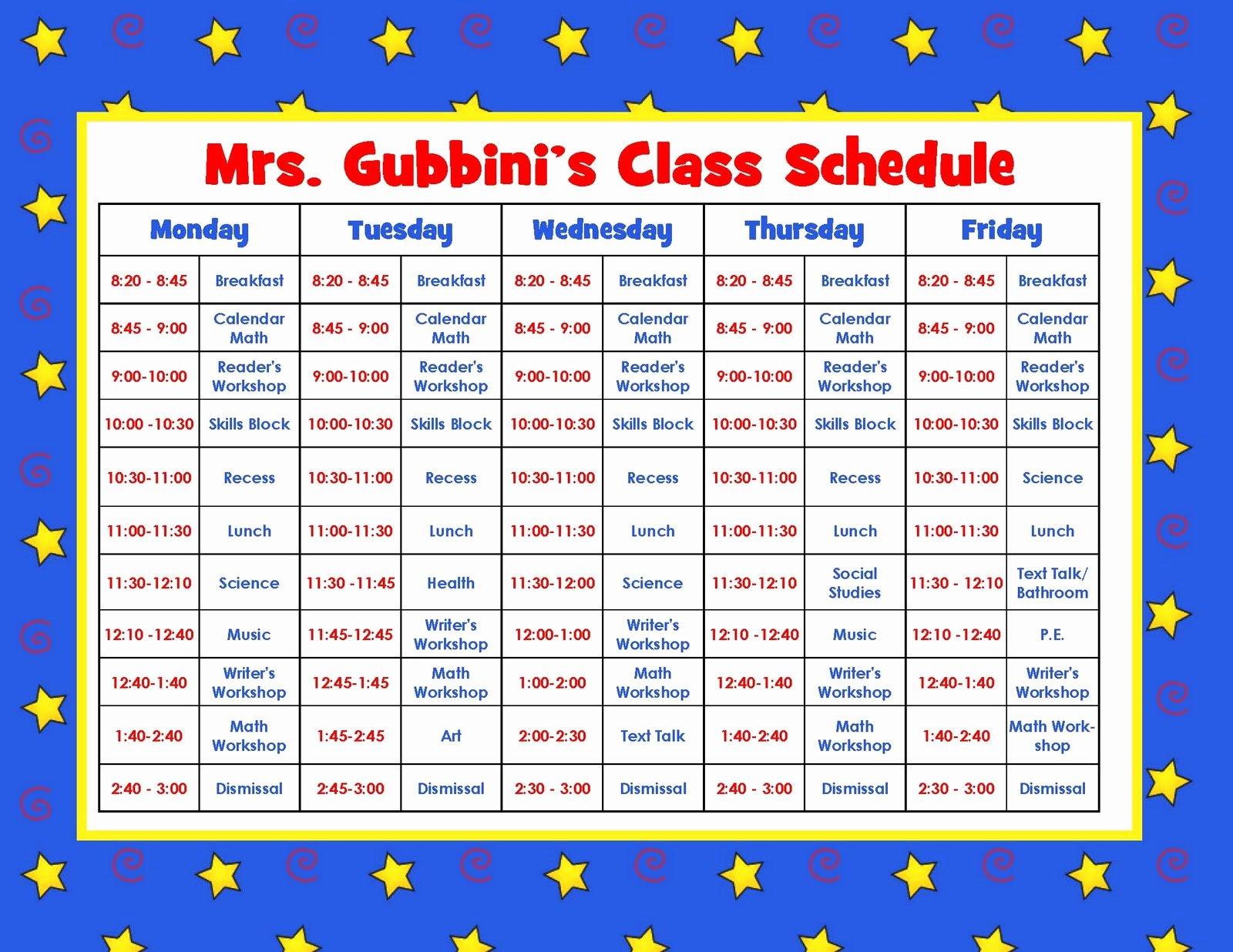 Teacher Daily Schedule Template Luxury Aloha Kindergarten Daily Schedule Linky Party