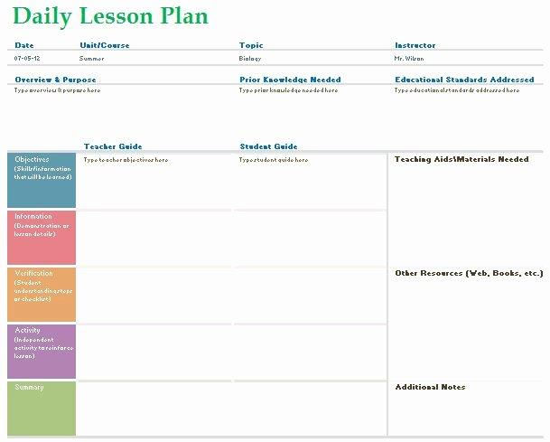 Teacher Daily Schedule Template Luxury Teacher Daily Lesson Planner Template