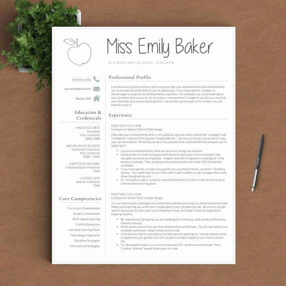 Teacher Resume Template Word Lovely Best 25 Teacher Resume Template Ideas On Pinterest