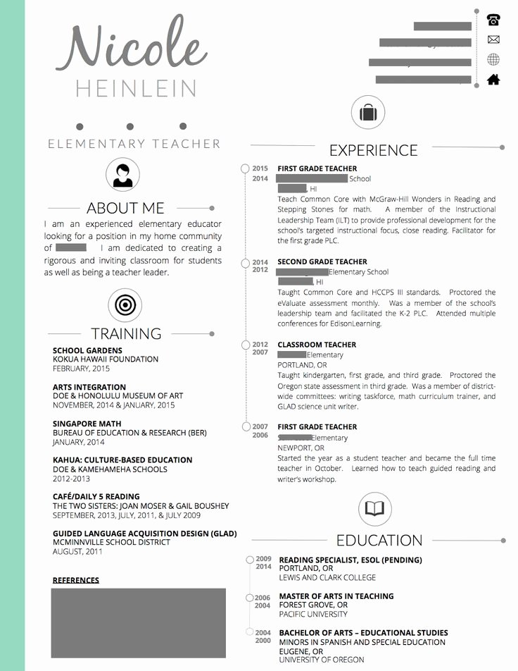 Teacher Resume Template Word Lovely Best 25 Teaching Resume Ideas Only On Pinterest