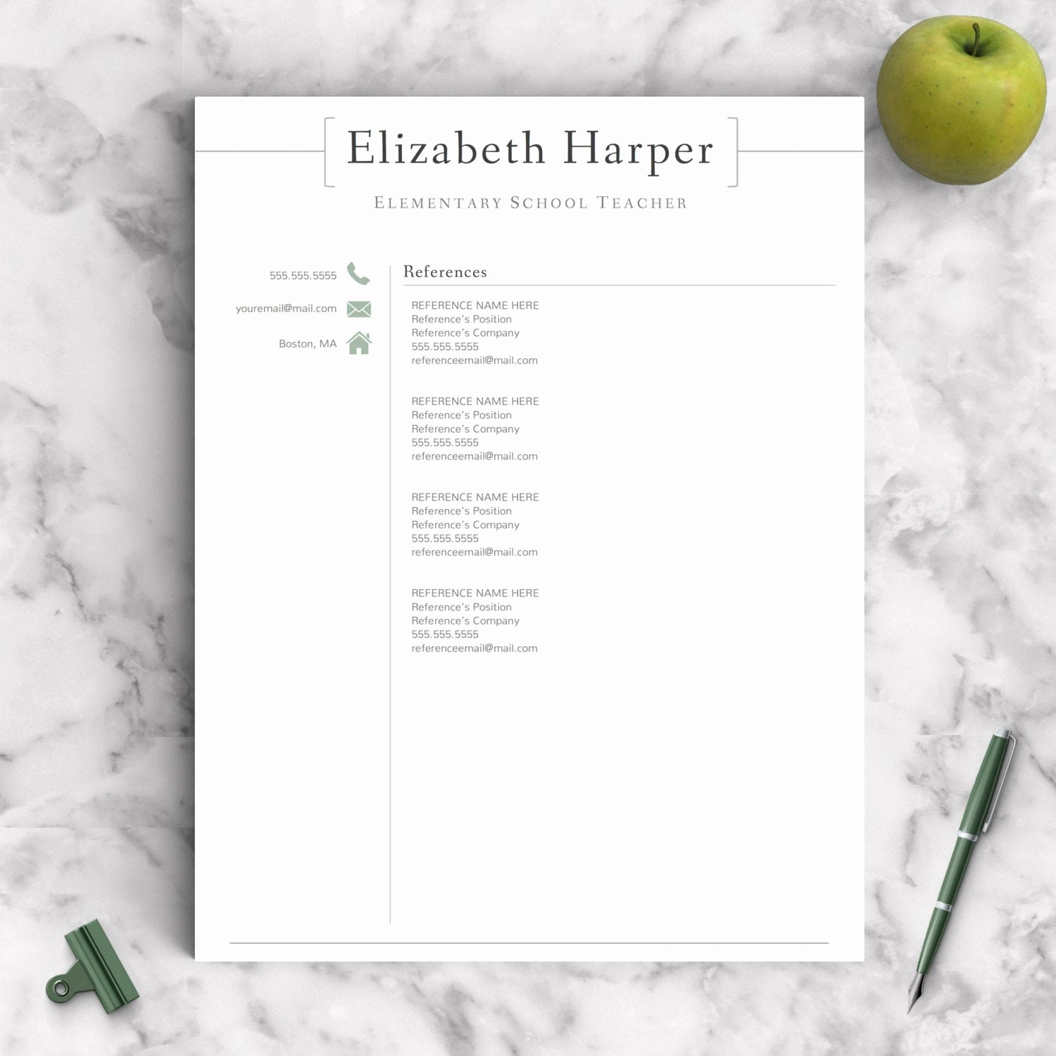 Teacher Resume Template Word New Teacher Resume Template for Word & Pages 1 3 Page Resume for