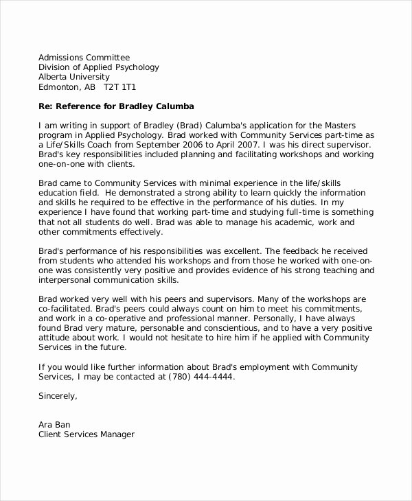 Teaching Letter Of Recommendation Template Beautiful 8 Reference Letter for Teacher Templates Free Sample