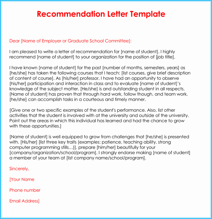 Teaching Letter Of Recommendation Template Luxury Teacher Re Mendation Letter 20 Samples Fromats