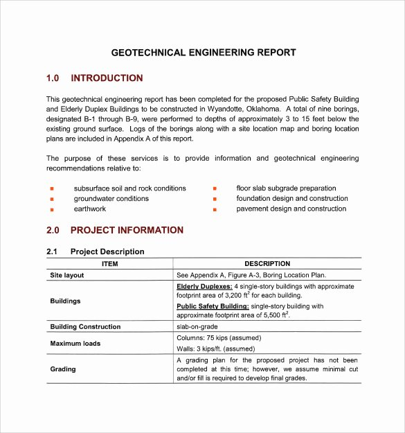Technical Report Template Word Inspirational 17 Sample Engineering Reports Pdf Word Pages
