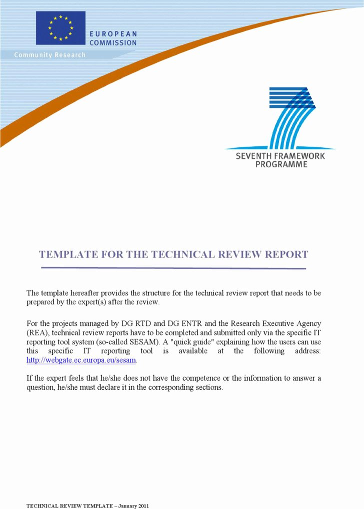 Technical Report Template Word Lovely 8 Word Report Templates Free Download