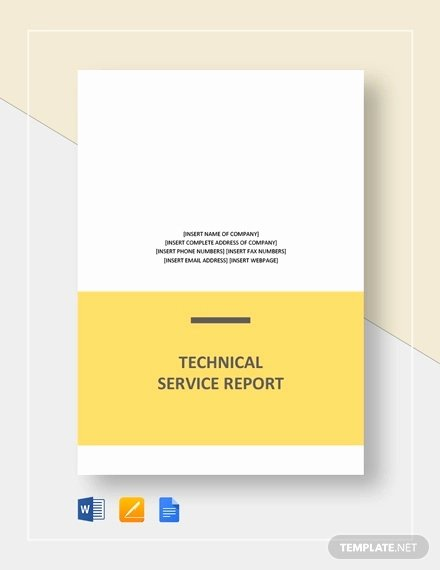 Technical Report Template Word Luxury 10 Technical Report Templates Docs Pdf Word