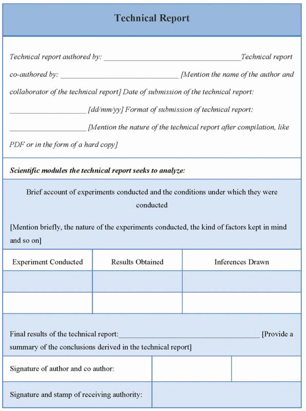 Technical Report Template Word New Technical Report Template