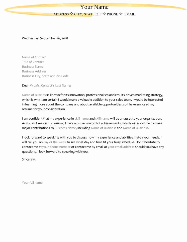 Template for Letter Of Interest Awesome 38 Letter Of Interest Samples & Examples Writing Guidelines