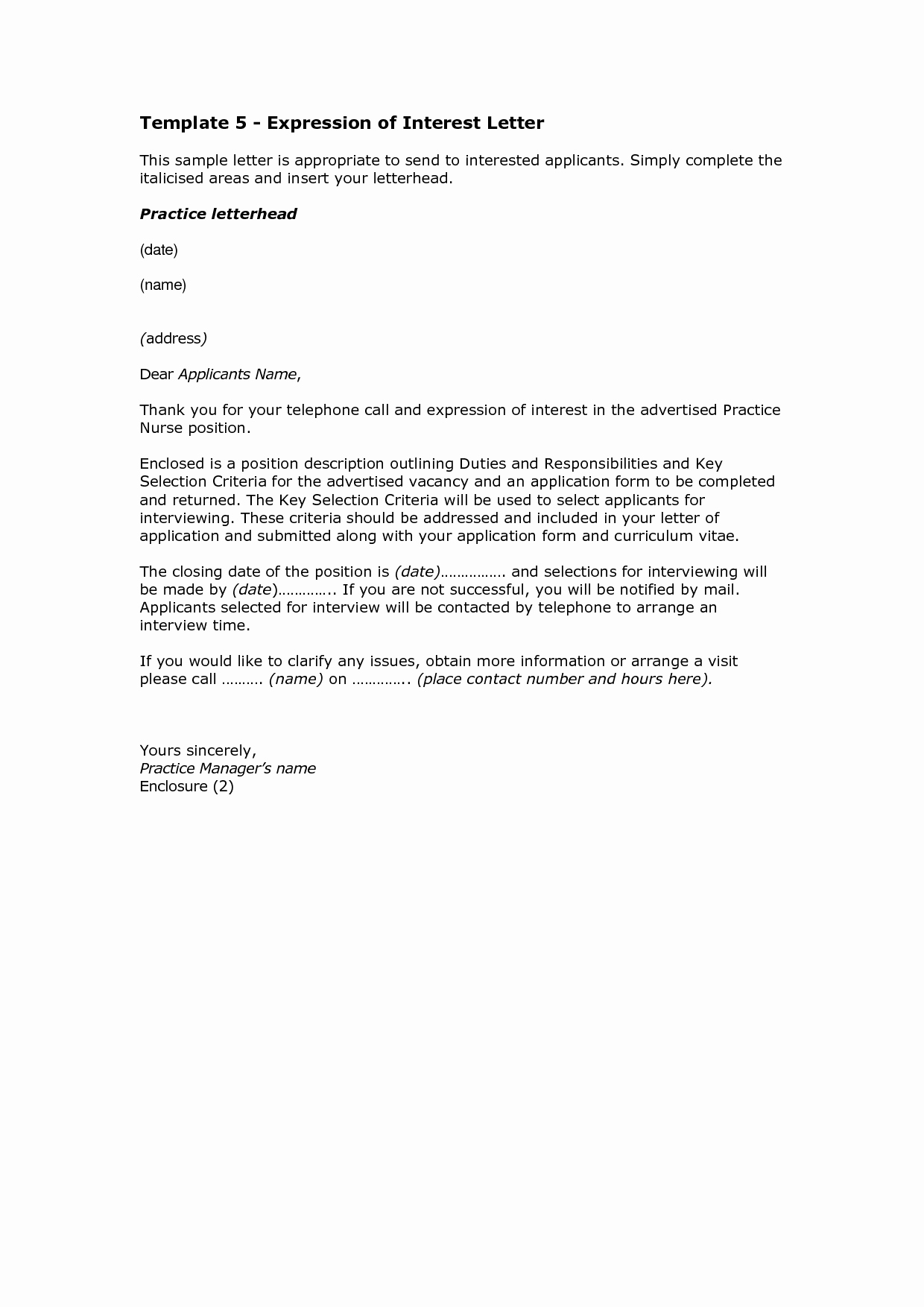 Template for Letter Of Interest Inspirational 10 How to Write A Letter Of Interest format