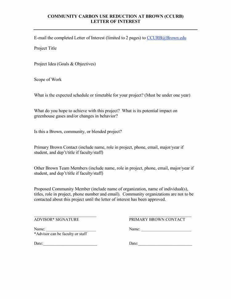 Template for Letter Of Interest Lovely 38 Letter Of Interest Samples & Examples Writing Guidelines