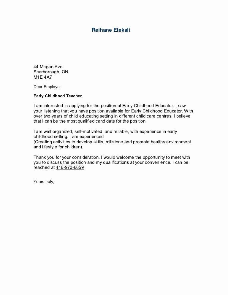 Template for Letter Of Interest Luxury Sample Cover Letter