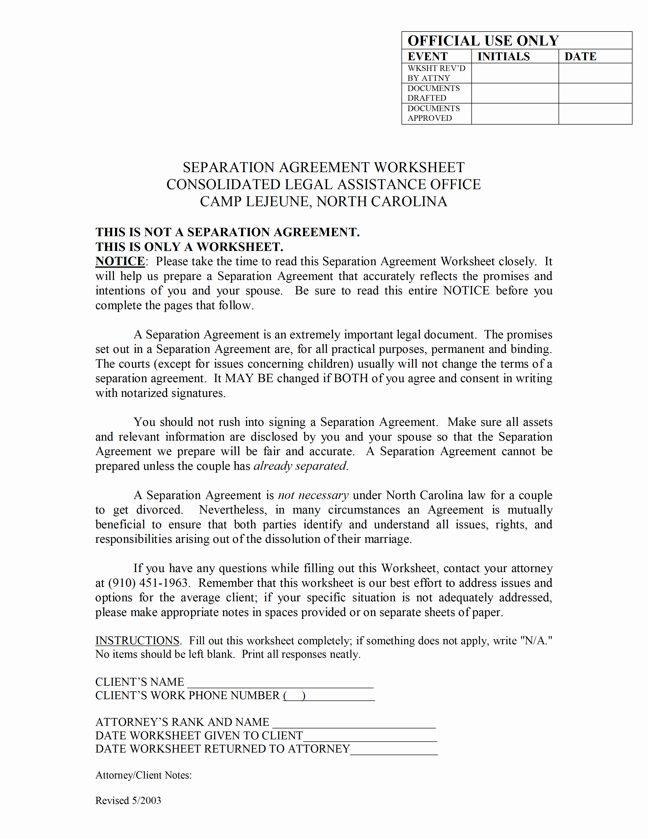 Template for Separation Agreement Inspirational Separation Agreement Template