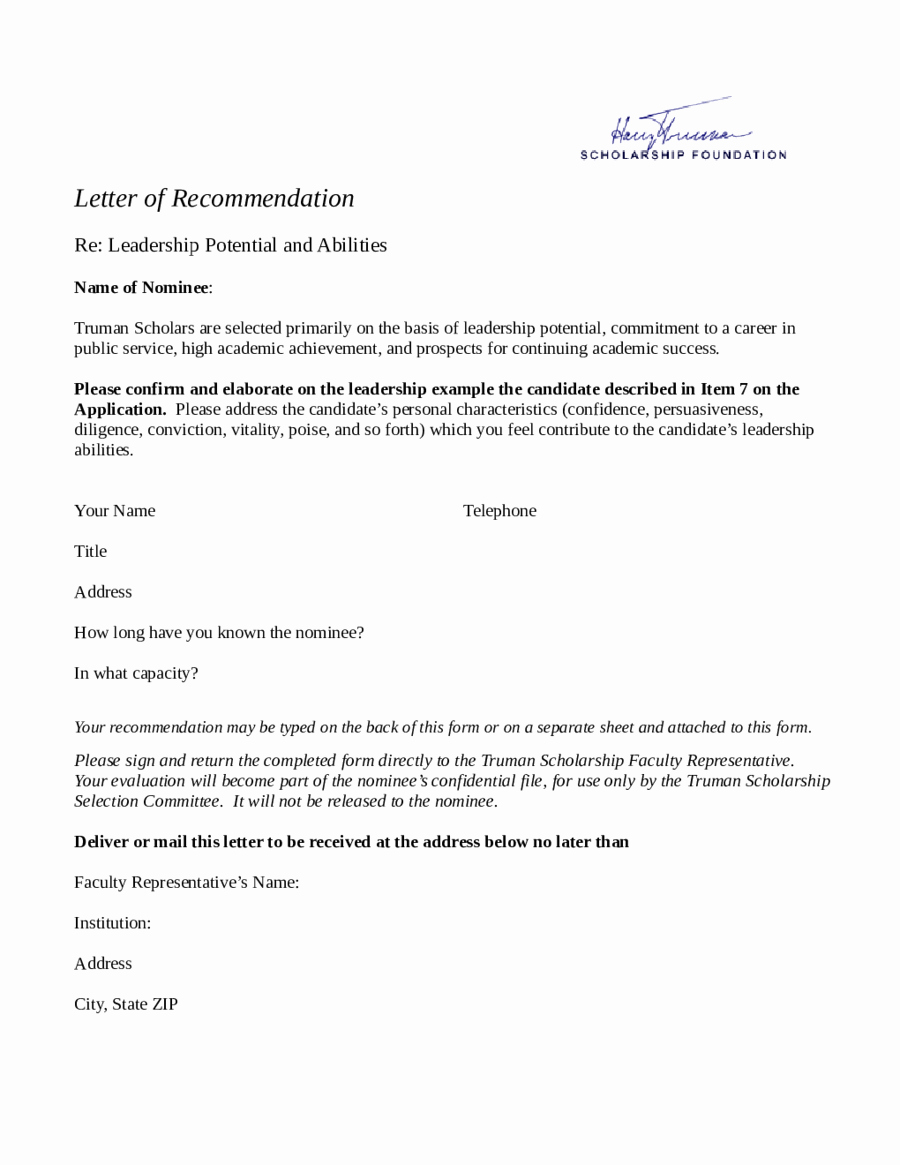 Template Letter Of Recommendation Fresh 2019 Letter Of Re Mendation Sample Fillable Printable