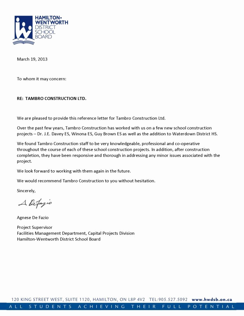 Template Of Letter Of Recommendation Inspirational Reference Letters