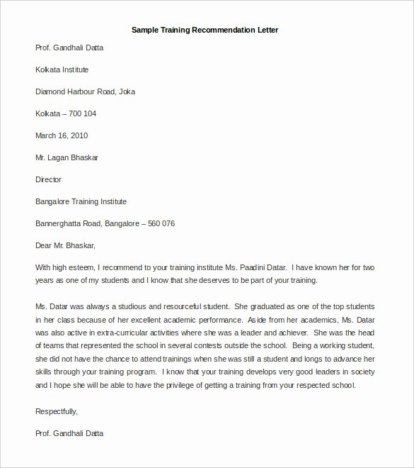 Templates for Letters Of Recommendation Unique 30 Re Mendation Letter Templates Pdf Doc