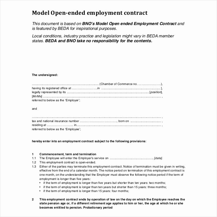 Temporary Employment Contract Template Best Of 12 Employment Contracts for Restaurants Cafes and