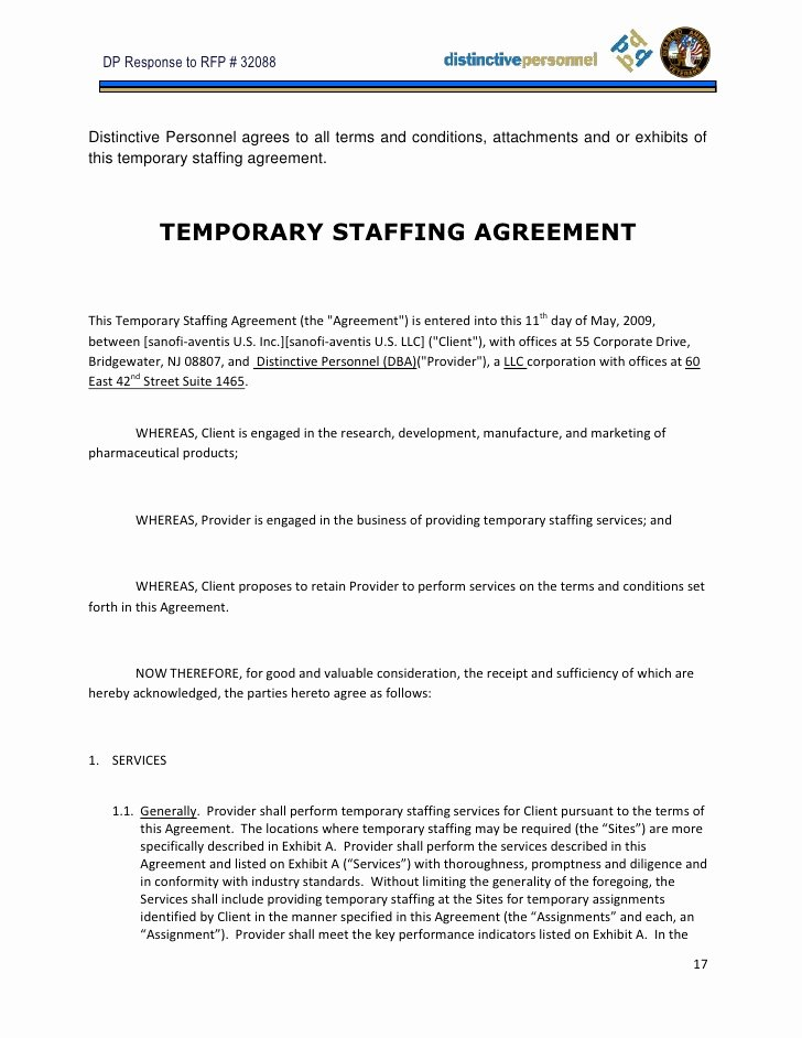 Temporary Employment Contract Template Fresh Proposal Sample Jc Noguera