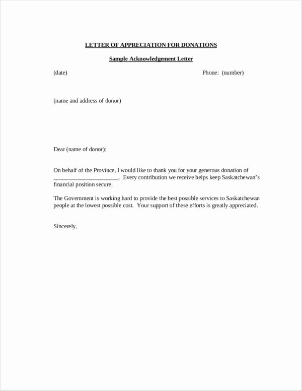Thank You Donation Letter Template Lovely How to Write A Donation Thank You Letter